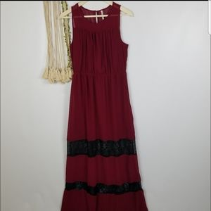 Nine Bird Brand NWOT Boutique  deep red marron col